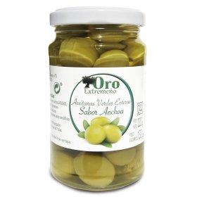Grüne Oliven m. Stein mit Sardellengeschmack Oro...
