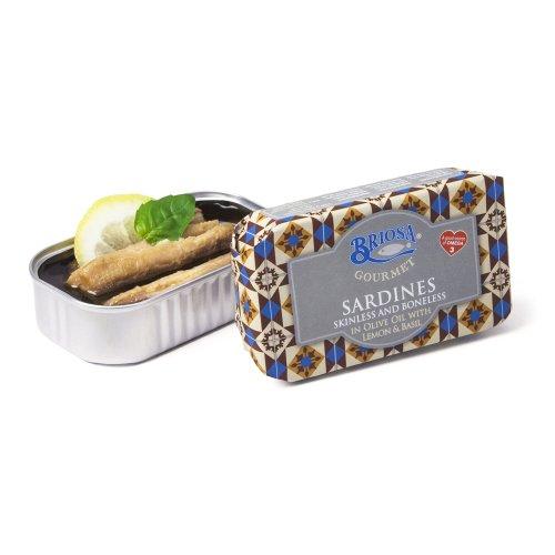 Sardinen ohne Gräten mit Zitrone u. Basilikum Briosa Gourmet