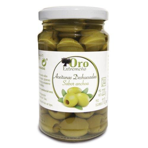 Grüne Oliven o. Stein mit Sardellengeschmack Oro Extremeno