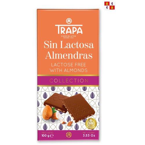 Trapa Collection Milch & Mandeln (laktosefrei) 100g