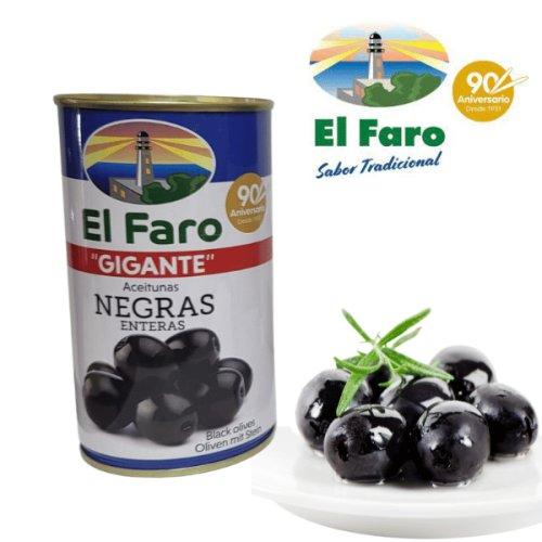 El Faro Oliven Gigante schwarz mit Stein