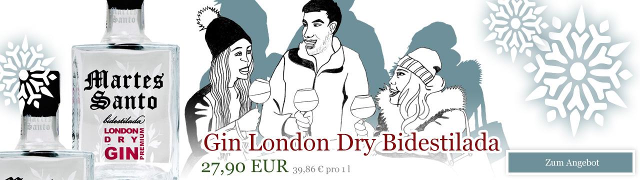 Gin London Dry Bidestilada Martes Santo